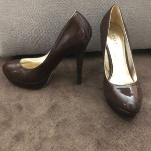 Chocolate Brown Heels Size 9.5